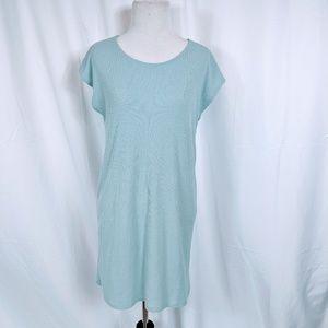 Forever 21 Blue Ribbed T-shirt Dress